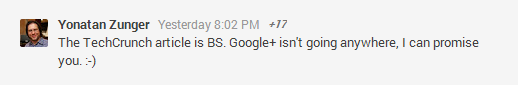 Yonatan chiusura google+