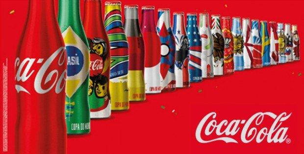 Coca-Cola packaging mondiali di calcio
