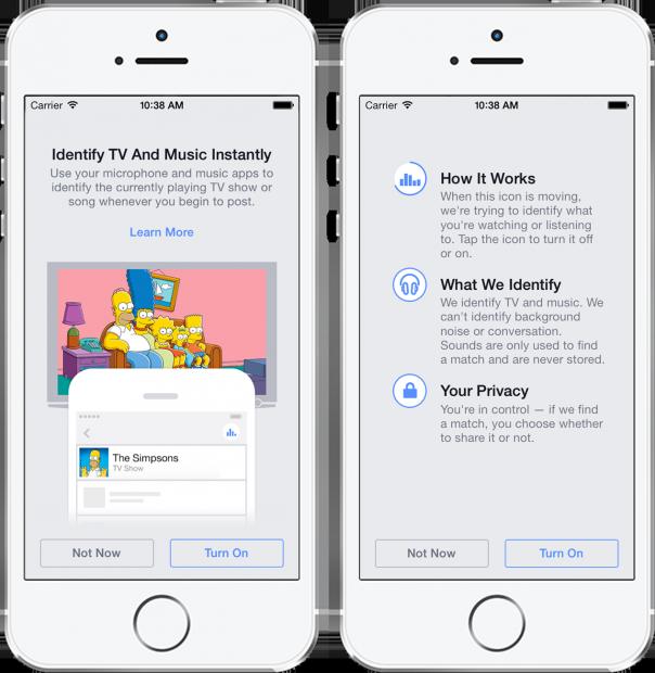 Una nuova funzione di Facebook riconosce le canzoni come Shazam