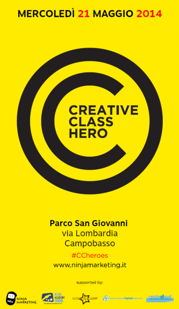 Creative Class Heroes a Campobasso, appuntamento al 21 maggio!