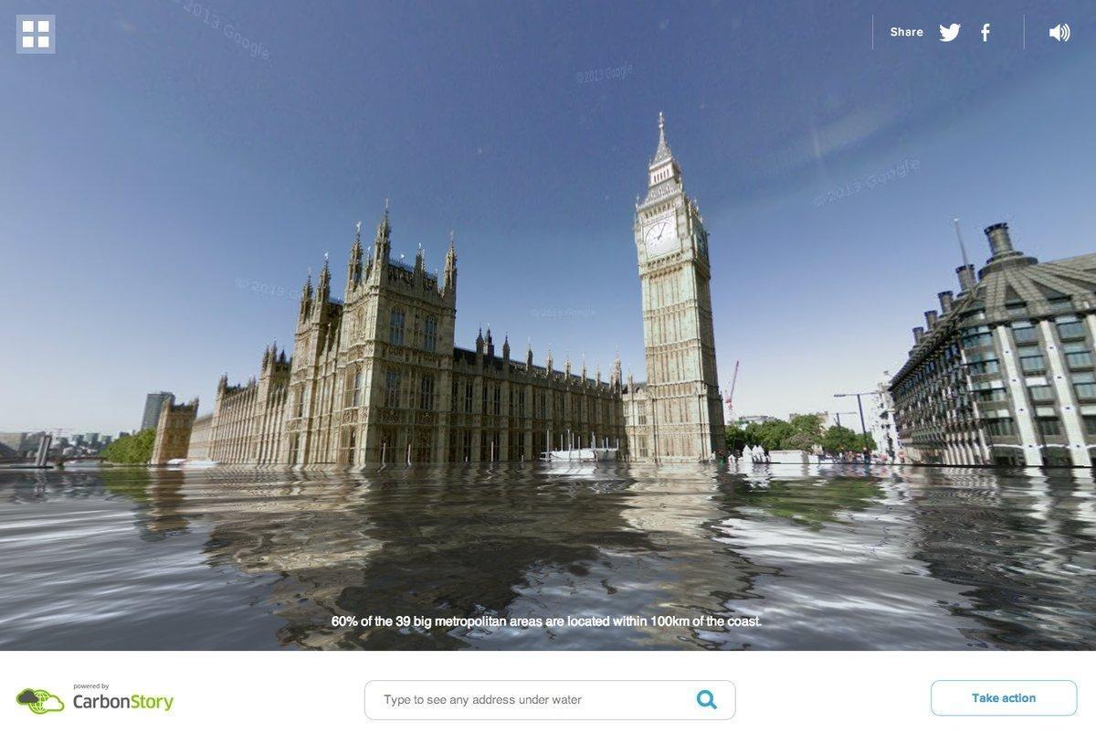 """""""World Under Water"""", con Google Street View vedi gli effetti dei cambiamenti climatici"""