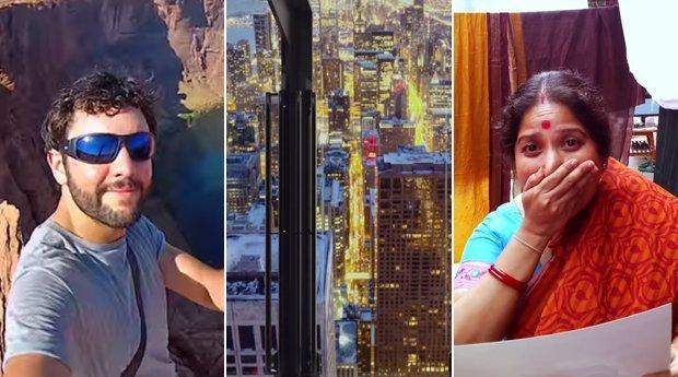 Google Glass, selfie e vetri vertiginosi: i migliori video della settimana