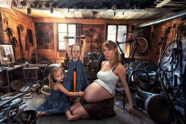 bambini con la mamma incinta