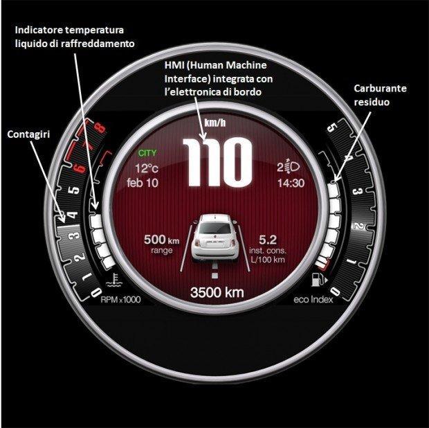 La nuova Fiat 500 è ancora più tecnologica, con il nuovo display TFT da 7 pollici
