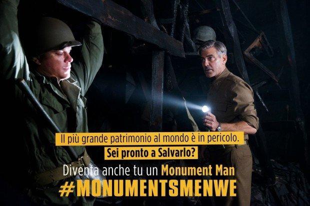 Monuments Men Weekend: cinema e social insieme per la promozione del patrimonio artistico italiano
