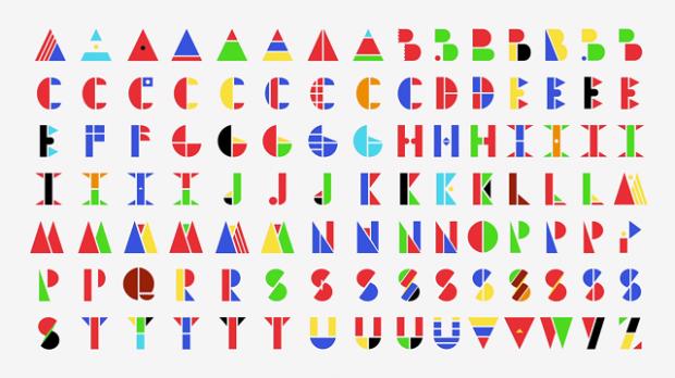 Multi-national typeface: le bandiere del mondo danno vita ad un font multiculturale