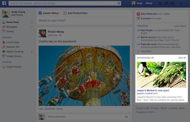Facebook adv: immagini più grandi nella colonna destra