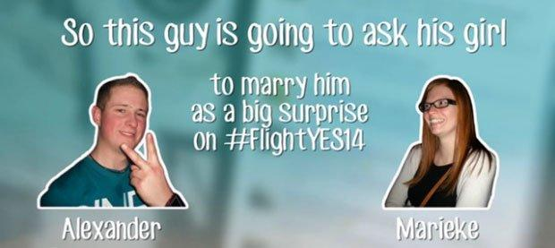 Thomas Cook regala un matrimonio in volo