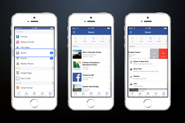 facebook introduce il tasto salva