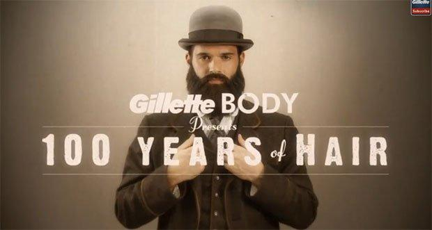 Gillette Body Razor, 100 anni di barba e capelli in stop motion [VIDEO]