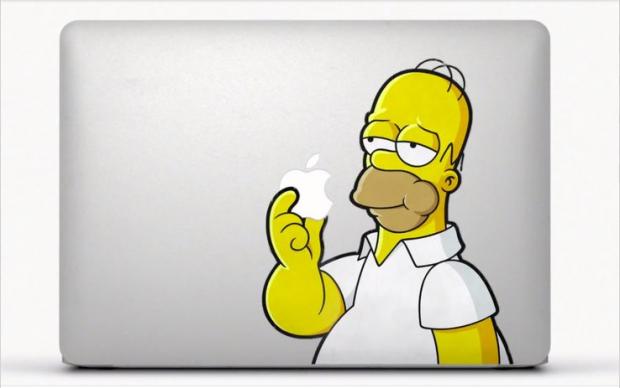 Homer Simpson adesivo Mac