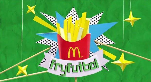Mondiali di calcio: McDonald's li ricrea usando solo patatine fritte [VIDEO]