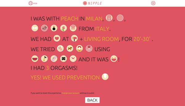 nipple sex tracker app