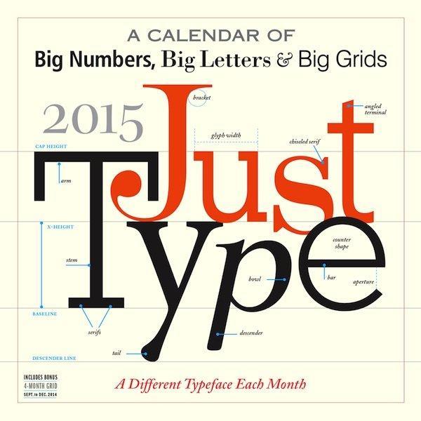 Just Type 2015 è il calendario per gli amanti della typography