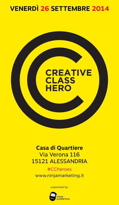 Creative Class Heroes ad Alessandria, appuntamento al 26 settembre!