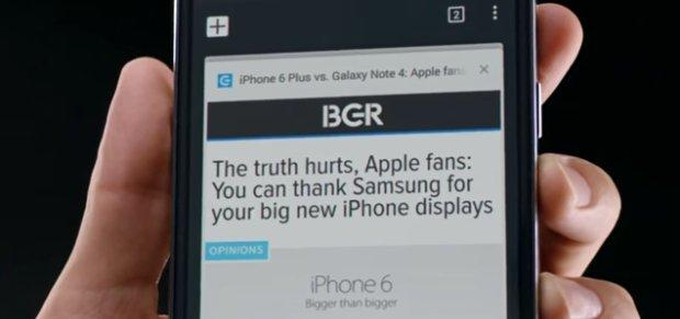 Samsung, il primo video post iPhone 6 [VIDEO]