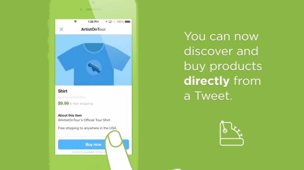 """Twitter apre all'ecommerce con il tasto """"Compra Ora"""""""