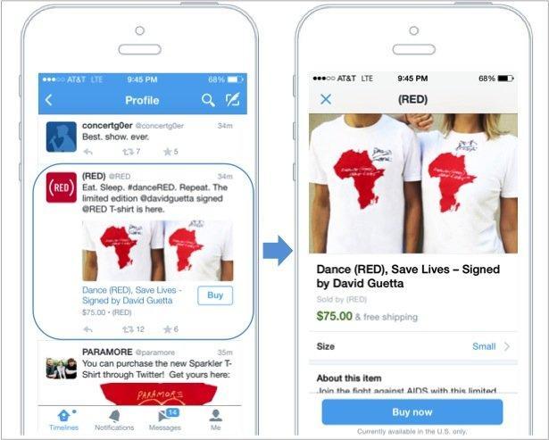 twitter ecommerce da smartphone