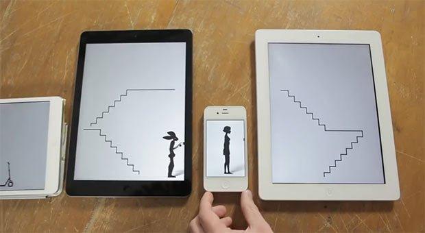 Un video musicale girato con gli schermi di 14 iPad e iPhone [VIDEO]