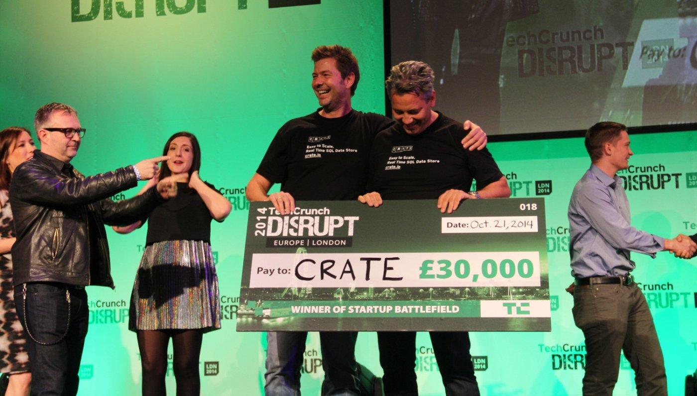 TechCrunch Disrupt Europe, la Cup 2014 é di Crate.IO
