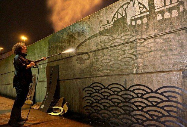 Street Art dall'animo eco per Nissan