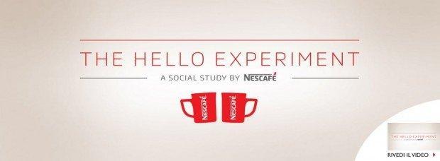 'The Hello Experiment': Nescafè abbatte l'imbarazzo con un caffè