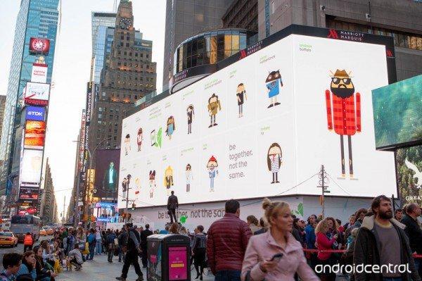 Google sorprende i passanti di Times Square
