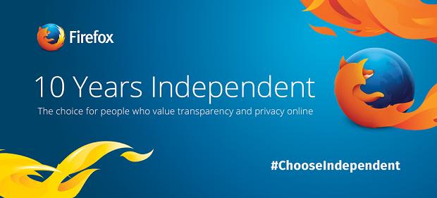 """Firefox festeggia i suoi 10 anni con """"Choose Indipendent"""" [VIDEO]"""