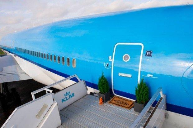 KLM porta in aereo un appartamento di Airbnb