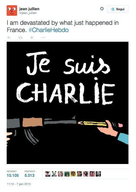 Charlie Hebdo vignetta di Jean Jullien