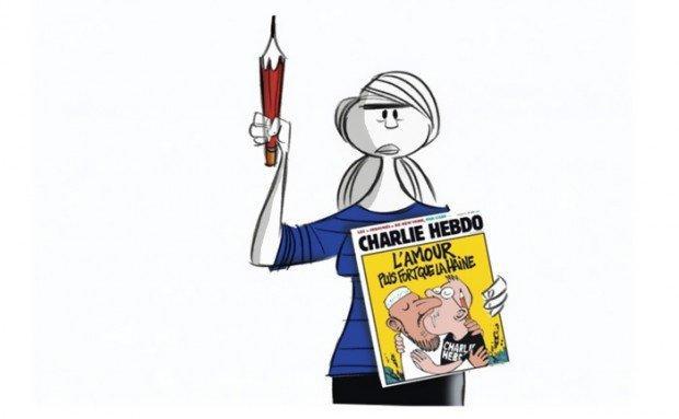 Charlie Hebdo vignetta di Ann Telnaes