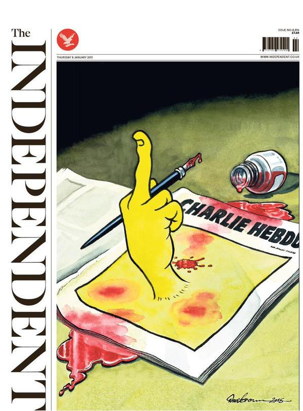 Charlie Hebdo Dave Brown Indipendent