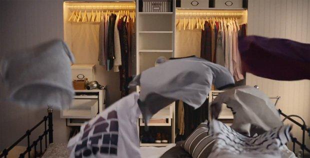 Nel mondo stra-ordinario di IKEA anche le t-shirt volano [VIDEO]