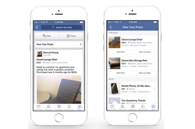 Facebook tasto sell