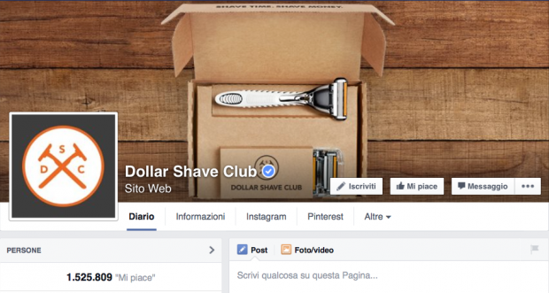 Dollar shave club fanpage