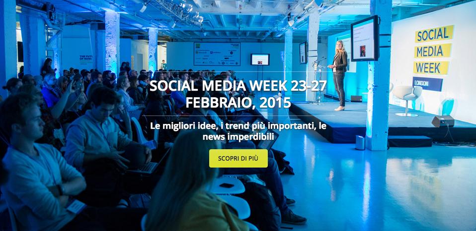 Sta per iniziare la settimana più social dell'anno. Vieni con noi alla Social Media Week Milano