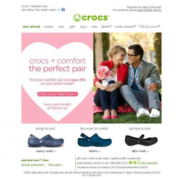 Crocs San Valentino