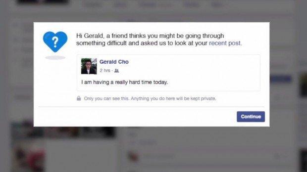 Facebook per la prevenzione dei suicidi