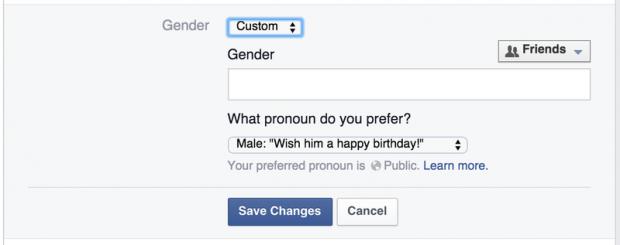 Donna, uomo o… Facebook ti lascia scegliere il genere