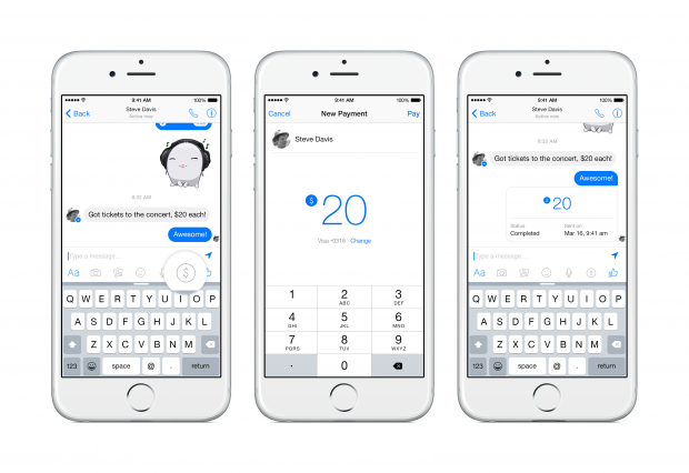 Pagamenti social: Facebook implementa il money transfer su Messenger