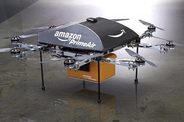 Handout photo of an Amazon PrimeAir drone