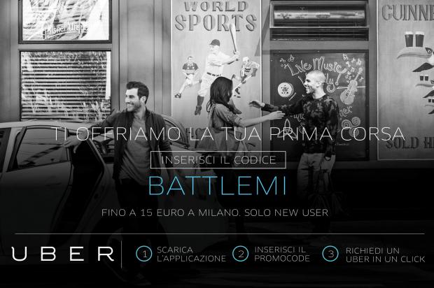 Vieni alla BattleMI? Iscriviti a Uber e gira per Milano con stile