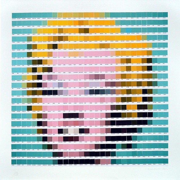 Quadri famosi Pantone su tela: è l'arte effetto pixel di Nick Smith