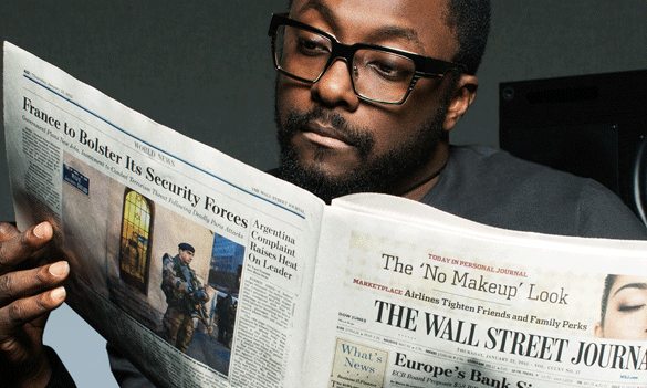 Will.i.am diventa il nuovo volto di Make Time per il Wall Street Journal