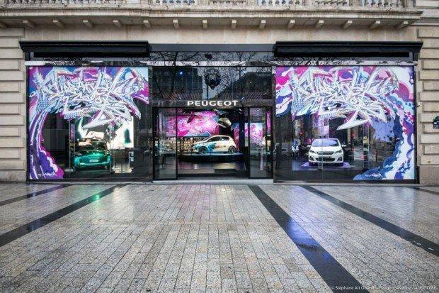 Con Peugeot la Street Art trionfa sui grandi boulevard di Parigi