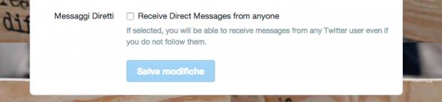 Twitter inverte la rotta: via libera alle conversazioni private2