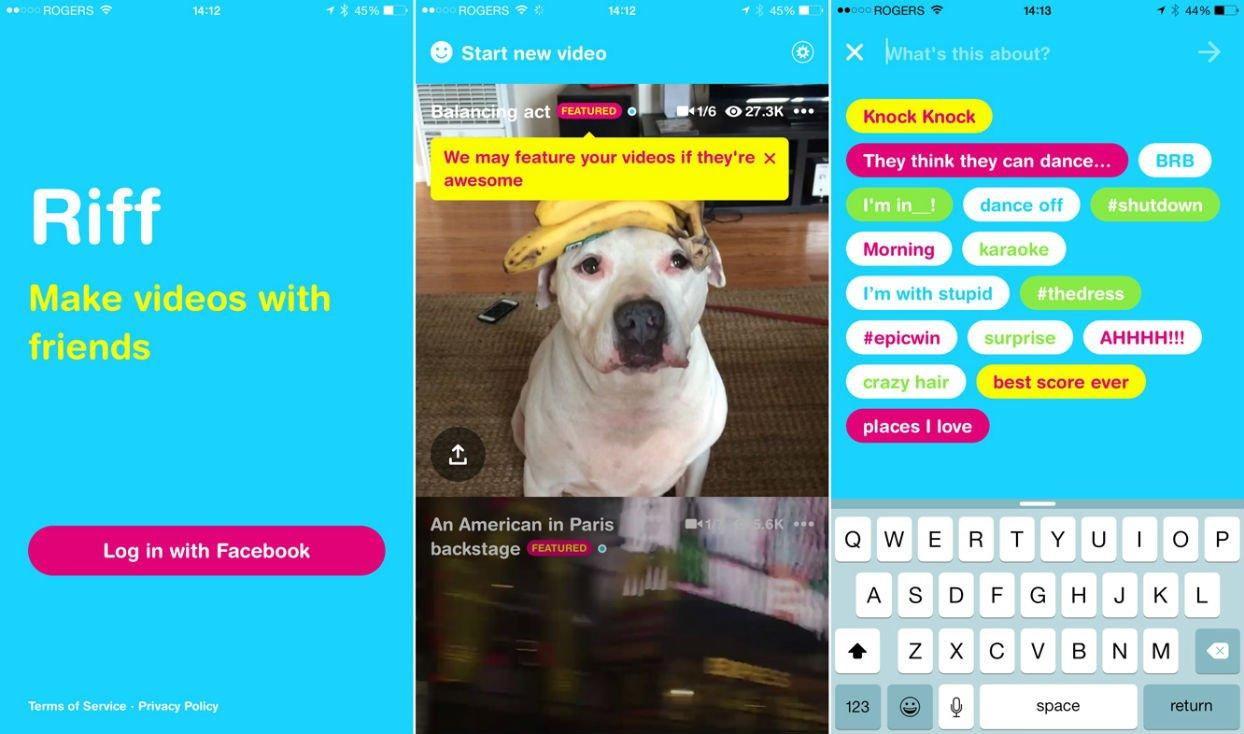 Riff: da Facebook l'app per creare video virali con gli amici