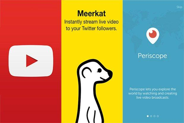 youtube meerkat periscope