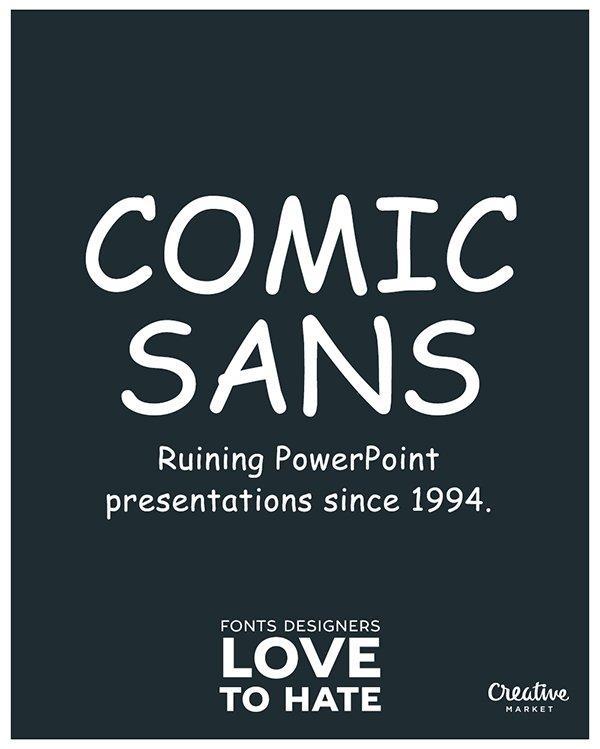 11 font che i designer amano odiare