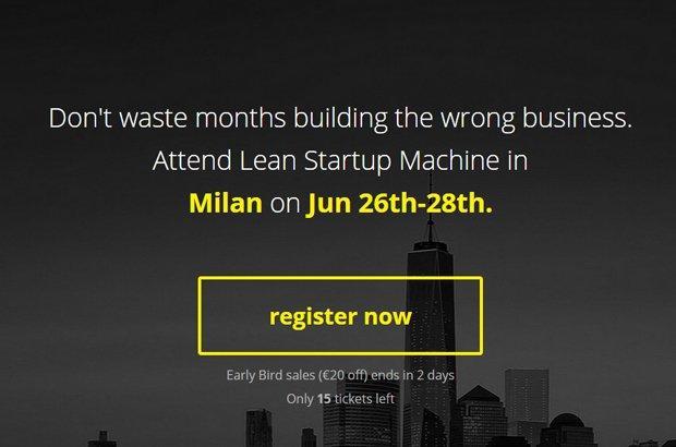 Vieni al Milan Lean Startup Machine con lo sconto per lettori Ninja [EVENTO]